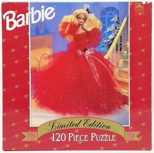 Barbie Golden 120 Piece Puzzle Happy Holidays 1988 Doll Limited Edition NRFB
