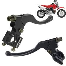 Pair L&R Brake Clutch Lever Perch Motorcycle Black For Honda CR100 CR250 XR250