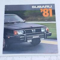 1981 Subaru Car Lineup Ad Brochure Vintage