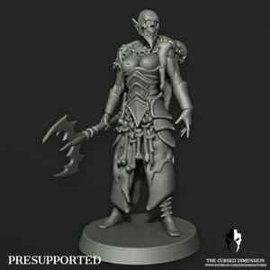 Dark Kin female Acolyte Proxy For Drukhari Wracks Edge Miniatures