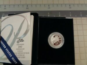 2007-W $25 American Platinum Eagle Proof 1/4 Oz Quarter Ounce .9995 Fine OGP
