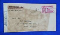 1942 Guayaquil Ecuador from Costa Rica Postal Cover - CR 15 centimos stamp