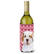 Caroline's Treasures-Hearts Love and Valentine's Day Portrait Wine Bottle Bev.