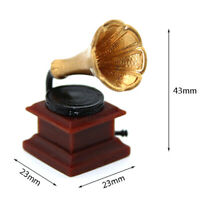 1:12 Miniature retro phonograph dollhouse diy doll house decor accessoriesSE