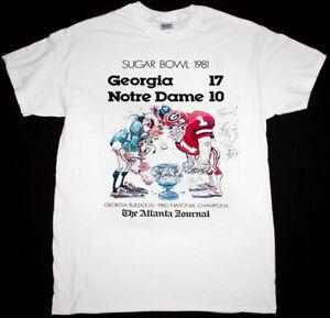 Sugar Bowl 1981 GEORGIA Vs NOTRE DAME T-Shirt Unisex Vintage Reprint TK7378