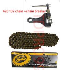 Pit Dirt Bike ATV Quad 420 132 Link Chain Drive Chain + Chain Breaker Tool