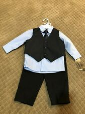 Baby Boy Andrew Fezza four Piece Suit Size 6-9 mos In Navy