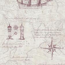 vintage mapa atlas estampado Old Naútico No Tejidos Con Textura