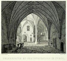 GARMISCH-PARTENKIRCHEN - Pfarrkirche Partenkirchen - Busse - Radierung 1832