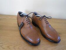 Mens Brown Leather Brogue Shoes Smart Formal Lace Up UK Size 8 Samuel Windsor
