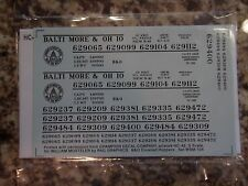 Baltimore & Ohio covered hopper car decals, black, S-scale, Capitol dome herald
