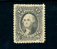 USAstamps Unused VF US 1861 Washington Civil War Issue Scott 69 OG MHR