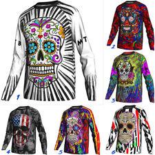 Mexico Skull Motocross Cycling Jersey Long Jacket MTB Bike Mountain Road Shirt