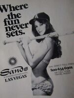 L.A. Angels The Sands Las Vegas The Fun Never Sets 1978  Original Print Ad 9x11""