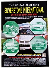 MG Silverstone International 2003 Poster