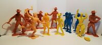 Lot of 12 Vintage 1964 * Louis Marx & Co * 6 Inch Tall Cowboy & Indian Figures *
