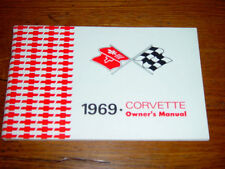1969 Corvette Factory GM Original Owners Manual w/ Full Corvette News Card MINT