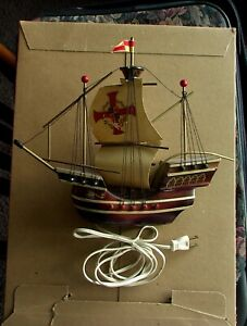Vintage Santa Maria Ship 40W Lamp from Holland 12.5 in L x 10 in H x 3 in D