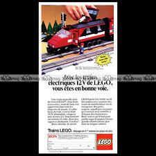 LEGO 'Train TGV Réf. 7745' (1985) - Pub / Publicité / Original Advert Ad #C171