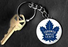 Toronto Maple Leafs Blue Leaf Logo Keychain Key Chain NHL