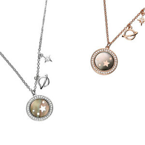 NEW 925 Sterling Silver Gold Plated CZ Celestial Moon Star Necklace SALE