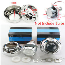 2x 3inch Car BI-Xenon HID Projector Lens Kit without Bulbs For H1 H4 H7 Adapter