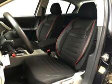 Sitzbezüge Schonbezüge für Seat Leon schwarz-rot V2425020 Vordersitze