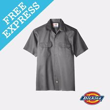 Dickies Short Sleeve Work Shirt 2xl Charcoal