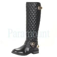 Zip Synthetic Leather Knee High Boots for Women