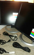 "2 Dell UltraSharp 1704FPVt 17"" LCD Flat Panel Monitors with Stands - Very Good+"