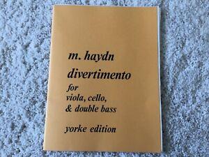 M. Haydn Noten für Viola Violoncello und Kontrabass