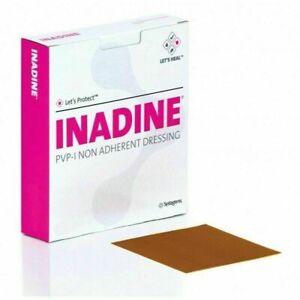 5 x Inadine Dressing  5cm x 5cm PVP Iodine Non Adherent Dressing (Pack of 5)