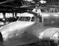 8x10 Print Amelia Earhart Construction on her Lockheed Electra Burbank Ca #AEAC