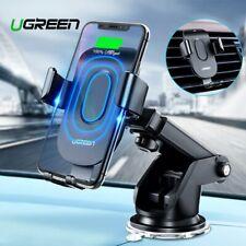 Cargador inalámbrico Qi coche Ugreen carga inalámbrica rápida titular montaje para iPhone