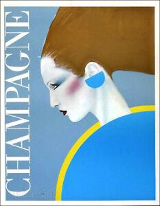 RAZZIA Champagne 1982 Vintage French Poster 31 x 24