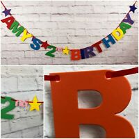 PERSONALISED 1st BIRTHDAY BANNER bunting 13th 16th 21st 30th party decoration.