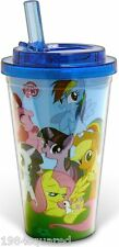 My Little Pony Friendship is Magic Travel Cold Cup With Flip Straw MLP 16oz New