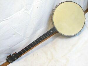 Vintage Bruno Banjo Musical Folk String Instrument 4-String