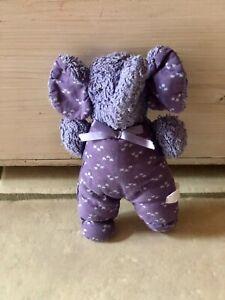 Sigikid Elefant Frottee Stoff lila blau vintage 21 cm rar