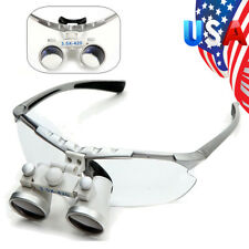 Silver Dentist Dental Surgical Medical Binocular Loupes 3.5X 420mm Optical Glass