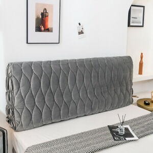 Luxury Thicken Quilted Headboard Cover Soft Bed Head Back Protector Slipcover