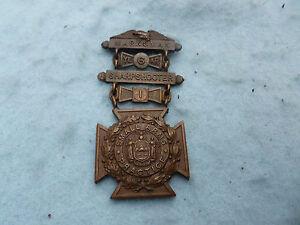 New York National Guard Medal Sharpshooter Small Arms Bar Tiffany Marked Span Am