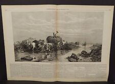 Harper's Weekly Dbl Pg Sea Weed Gatherers 1874 A11#39