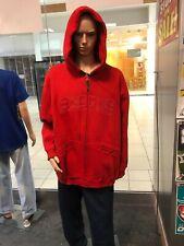 Akademiks Hoodie Sweatshirt Men   Logo Zip Red