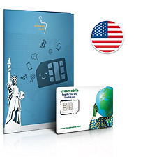 Lycamobile 6 GB fast data,text ,& unlimited international minutes to use in USA