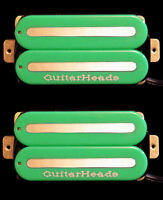 Guitar Parts GUITARHEADS PICKUPS MEGAMETAL HUMBUCKER - Bridge Neck SET 2 - GREEN