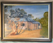 Australian Homestead Oil Painting Framed
