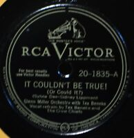 Glenn Miller Tex Beneke It Couldn't Be True 78 RCA 20-1835 EX One More Tomorrow