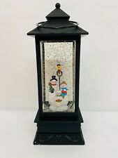 LED Color Changing Hanging Lantern Lamp Glitter Snowman Christmas House Decor