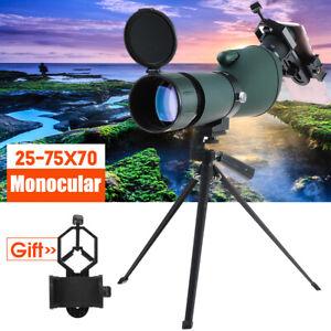 25-75x70 Zoom Monocular Telescope Tripod Spotting Scope Bird Watching Gift UK